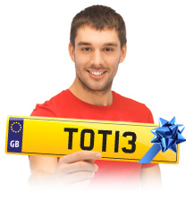 buy private number plates as a gift