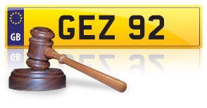 buying a private plate at auction
