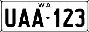 private number plate - platinum plates